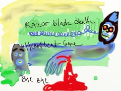 Death (Lainey1) Tags: death suicide blood red colors ipad artapps art drawing sketching painting lainey1 elainedudzinski