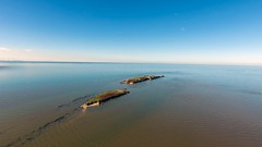 Water locked Hilbre (nealhughes1) Tags: wirral phantom drone westkirby beach hilbre