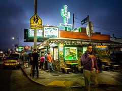 Cactus Taqueria (tritranla) Tags: people losangeles urban color bluehour candid street