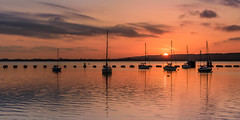 The End Of The Day (Explore 11-6-2017) (Sunset Snapper) Tags: theendoftheday sunset langstoneharbour hampshire southcoast uk boats yachts reflections clouds nikon d810 2470mm filter lee nd grad tranquil serene peaceful colour sunbeam april 2017 sunsetsnapper