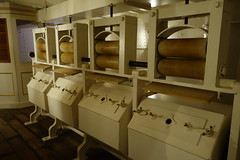 Laundry (bathtubs at back) (koukat) Tags: uk drive portsmouth harbour solent historic dockyard museum navy hms warrior 1860 ship