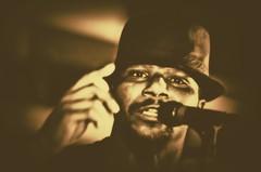 "Blues Truth -- Anthony ""Big A"" Sherrod (forestforthetress) Tags: jukejointfestival clarksdale music musician singer song face people monochrome omot nikon band festival"