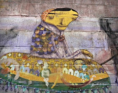 A Grandmother, Boat to Freedom (Robert S. Photography) Tags: art street mural grandmother boat wall coneyisland nyc brooklyn sony color dscwx150 iso100 june 2017