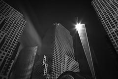 Opportunity (bprice0715) Tags: canon canoneos5dmarkiii canon5dmarkiii architecture architecturephotography buildings blackandwhite blackwhite bw longexposure leefilters leebigstopper leelittlestopper nyc newyorkcity freedomtower brookfieldplace contrast highcontrast lowkey darksky fineart lines shapes urban city cityscape skyline modern
