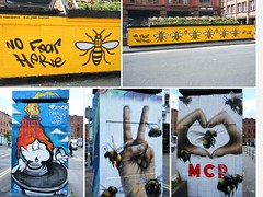 🌈🌈MANCHESTER - IMAGES SUPPORTING THE PEOPLE AND CITY AFTER TERRORIST BOMBING🌈🌈 (rossendale2016) Tags: intimidation victory sign v heart imagery realistic brush brushed paint spray local artists artistic neat clever imaginative iconic pot stinging sting buzzing buzz flying black yellow painted engraved embossed town shield city emblem sweet honey bees senseless individual deranged reason no killed teenagers men women music musical concert news evening arena children cowardly coward idiot pointless idiotic terrible supporting bombing disaster support we terror against up stand art street colourful coloured images lancashire england manchester