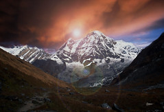Annapurna Himalayas (film) (tsuping.liu) Tags: outdoor organicpatttern bright cloud colorofsky depthoffield ecology ecotour exquisitesunsets perspective photoborder pattern passion photographt painting sky serene sunset sun moment mountain mood twilight trekking touching texture theperfectphotographer terns landscape lighting