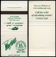 Indian Oak Resort in Chesterton, Indiana - Matchcover (Shook Photos) Tags: match matches matchbook matchbooks matchcover matchcovers smoke smoking advertise advertisement promotion promotional
