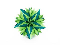 Aloe (masha_losk) Tags: kusudama кусудама origamiwork origamiart foliage origami paper paperfolding modularorigami unitorigami модульноеоригами оригами бумага folded symmetry design handmade art
