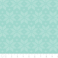 C-0233 Camelot Cotton Meadow Stitch in Mint (MyLittlePoppySeed) Tags: c0233 camelotcotton camelot mylittlepoppyseed cotton fabric meadow monochrome géométrique geometrical mint jade blue c0217 sitch stars étoiles