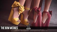 [VALE KOER] BOW WEDGES (VALE KOER) Tags: vk vale koer valekoer second life sl secondlife collabor 88 c88 wedge heels slink maitreya belleza mesh blender bob