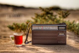 Desert and past.National Panasonic R-218R radio.