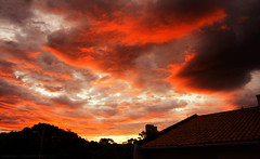 Almost Red Sunset (LeoMuse747) Tags: sunset sunshine clouds twilight orange red glow sungazing sungaze artistic photography nature photo leomuse747 nikon d5100 nikkor 18105mm vr camera lens brasil brazil brazilian brasilian afternoon colors art fortaleza ceara ceará city landscape landscapes beautiful