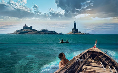 The moment of adventure (Bishwajit Bappy) Tags: sea adventure kanyakumari india tour southindiatour bay bengal ariabiansea indian ocean bibekananda rock boatman photography