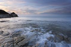 Thornwick Bay (martinl3) Tags: thornwickbay eastcoast wavews northsea yorkshire flamborough sunset rocks chalk cliff beach wash sea