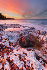 The rock and the pool (Louise Denton) Tags: rock pool rockpool red cliff colour sunset nightcliff beach darwin australia vertical vibrant