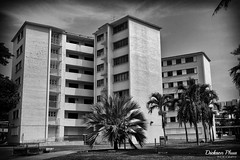 Legacy buildings of the past (gunman47) Tags: 2017 airport asia asian b bw crescent dakota east estate improvement mono monochrome mountbatten road sg sit sepia singapore south trust w abandoned black bloc brick building condo desolate empty en landscape old photography redevelopment street urban white window