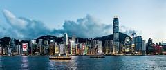 Hong Kong (drasphotography) Tags: hongkong hong kong skyline architecture architektur victoria harbour ferry hafen fähre travel travelphotography reise reisefotografie sky clouds drasphotography nikon d810 nikkor2470mmf28 golden hour blaue stunde stadt city cityscape
