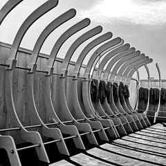 sport wardrobe (heinzkren) Tags: garderobe sport wardrobe checkroom aufbewahrung schwarzweis blackandwhite biancoetnero noiretblanc urban monochrome panasonic lumix arhitecture lines curves linien kurven shadow schatten square
