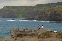 Watching the waves from above (radargeek) Tags: hawaii maui isleofmaui couple nakaleleblowhole