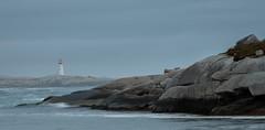 Misty Peggy's Cove (corybeatty) Tags: atlantic maritimes sunset sunrise canada historic landscape nikon nova scotia lighthouse ocean peggys cove water rocks seaside beach