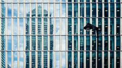 One Canada Reflection (Sean Batten) Tags: london england unitedkingdom gb canarywharf window reflection architecture city urban nikon df 58mm windows building eastlondon docklands lamp lines onecanadasquare