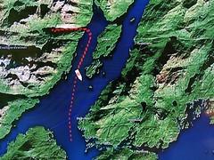 170523 MS Nordkapp Navigation Route (BY Chu) Tags: norway coastalfjords hurtigruten msnordkapp trollfjorden