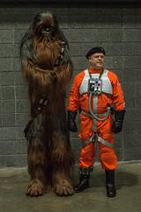 Wookie & Rebel Pilot (misterperturbed) Tags: awesomecon2017 washingtondc wookie chewbacca rebel pilot starwars