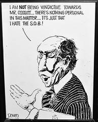 Apparently P.M. Trudeau didn't like Brockville's M.P. (Will S.) Tags: mypics brockvillemuseum brockville ontario canada museum cartoon pierreelliotttrudeau pierretrudeau trudeau pierre pm primeminister editorialcartoon vindictive petty