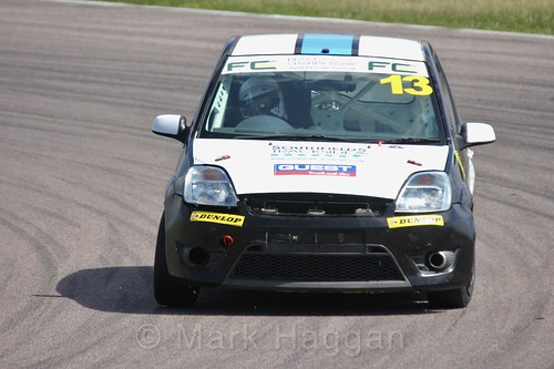 Ryan Faulconbridge in the Fiesta championship Class C at Rockingham, June 2017