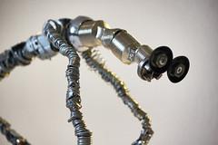 Folivore 2 (Vortex67) Tags: monstre art metal handmade wire sculpture recycled robot craft monster