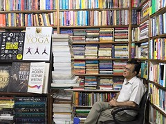 The Bookseller for All Time (Mayank Austen Soofi) Tags: delhi walla connaught place amrit bookshop