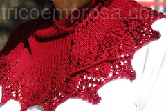 Xale Annis (tricô em prosa) Tags: xale renda contas nupps grátis knitty shawl lace beads free algodão cotton