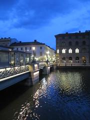 Tyska bron, Södra Hamngatan across Stora Hamnkanalen, twilight, Gothenburg, Sweden (Paul McClure DC) Tags: gothenburg göteborg sweden sverige july2015 historic architecture