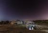 Dora la Exploradora :)) (Amparo Hervella) Tags: colmenardelarroyo comunidaddemadrid españa spain noche nocturna lightpainting paisaje bunker estrella largaexposición d7000 nikon nikond7000