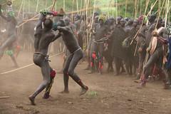 Battle (martien van asseldonk) Tags: ethiopia martienvanasseldonk donga surma surmi stickfighting