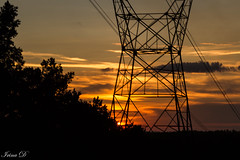 Power sunset (Irina1010_OFF) Tags: powerlines sunset sky red golden silhouettes canon clouds outstandingromanianphotographers