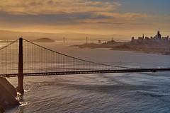 Good Morning, San Francisco (AgarwalArun) Tags: sonya7m2 sonyilce7m2 sony sanfrancisco goldengatebridge goldengate bayareacalifornia iconicbridge pacificocean ocean bridge marincounty scenic views landscape reflections fog marinelayer crissyfield