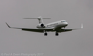 Gulfstream G-650 N270LE at Liverpool