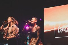 Cimorelli (Night Performance) at VidCon 2017 (j1madrPhotography) Tags: cimorelli night performance vidcon 2017 awesomenesstv festival stage presented by hollister christina katherine lisa amy lauren dani up at fall back problem renegade acid rain party in the usa six sisters live concert j1madr photography nightlife