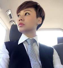 Penny Soon (bof352000) Tags: woman tie necktie suit shirt fashion businesswoman elegance class strict femme cravate costume chemise mode affaire