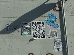 Sticker Combo (mkorsakov) Tags: dortmund city innenstadt sticker aufkleber combo copyone panda smileplease beaver bver 183 streetart stencil wand wall schatten shadow