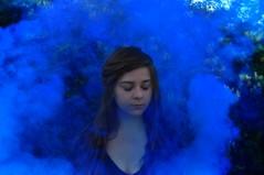 Smoke (lauriegirl97) Tags: editorial smokebomb enchanted pop color fairytale fantasy mysterious mystery selfportrait portrait smoke fog