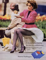 Hanes Too! 1987 (barbiescanner) Tags: vintage retro fashion vintagefashion vintageads 80s 1980s 80sfashion 1980sfashion hanes hanestoo hosiery