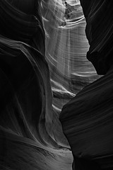 0246937053-89-Upper Antelope Canyon Arizona-6-Black and White (Jim There's things half in shadow and in light) Tags: canon5dmarkiv pagearizona sandstone tamronsp1530mmf28divcusdsens upperantelopecanyon vacation beautiful nature roadtrip monochrome blackandwhite