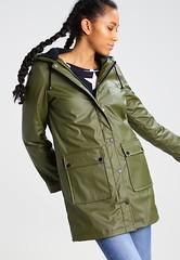 Borg - green raincoat front (ShinyNylonFan) Tags: borg raincoat
