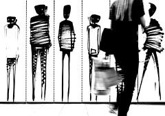 the observer (ThorstenKoch) Tags: streetphotography street schatten silhouette city candit licht monochrome blackwhite bnw observer shopping girl fujifilm fuji xt10 urban urbanart art