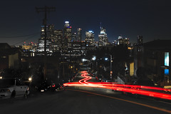 Beaudry (xdom05) Tags: city lighttrails longexposure losangeles night cityscape