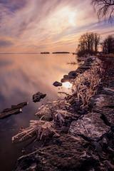 Ice on the lake 2 (Karma2c) Tags: lachine ice lacstlouis lakeshore landscape spring lake sunset water