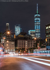 Sixth and Broome (20170708-DSC07063-Edit) (Michael.Lee.Pics.NYC) Tags: newyork tribeca sixthavenue 6thavenue broomestreet sullivanstreet streetscene onewtc worldtradecenter fourseasons lowermanhattan traffictrails lighttrails night longexposure architecture cityscape sony a7rm2 zeissloxia50mmf2