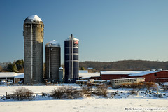 Yankee Farmlands № 97 (J. G. Coleman Photography) Tags: connecticut connecticutlymetown lyme newengland nutmegstate southernnewengland barn barns building farm farmland silo silos snow winter wintertime agriculture farming fieldstone wall fieldstonewall bucolic countryside landscape